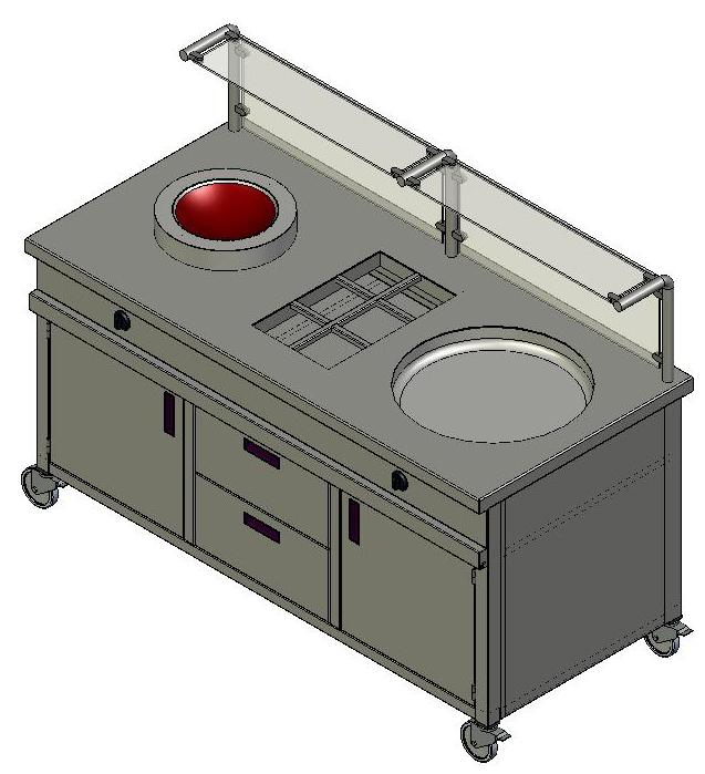 Ausgabetheken for Induktions wokpfanne
